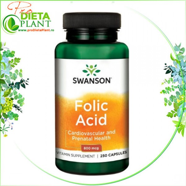 Acid Folic 800 mcg Swanson Health USA (250 cps / 1 pe zi)